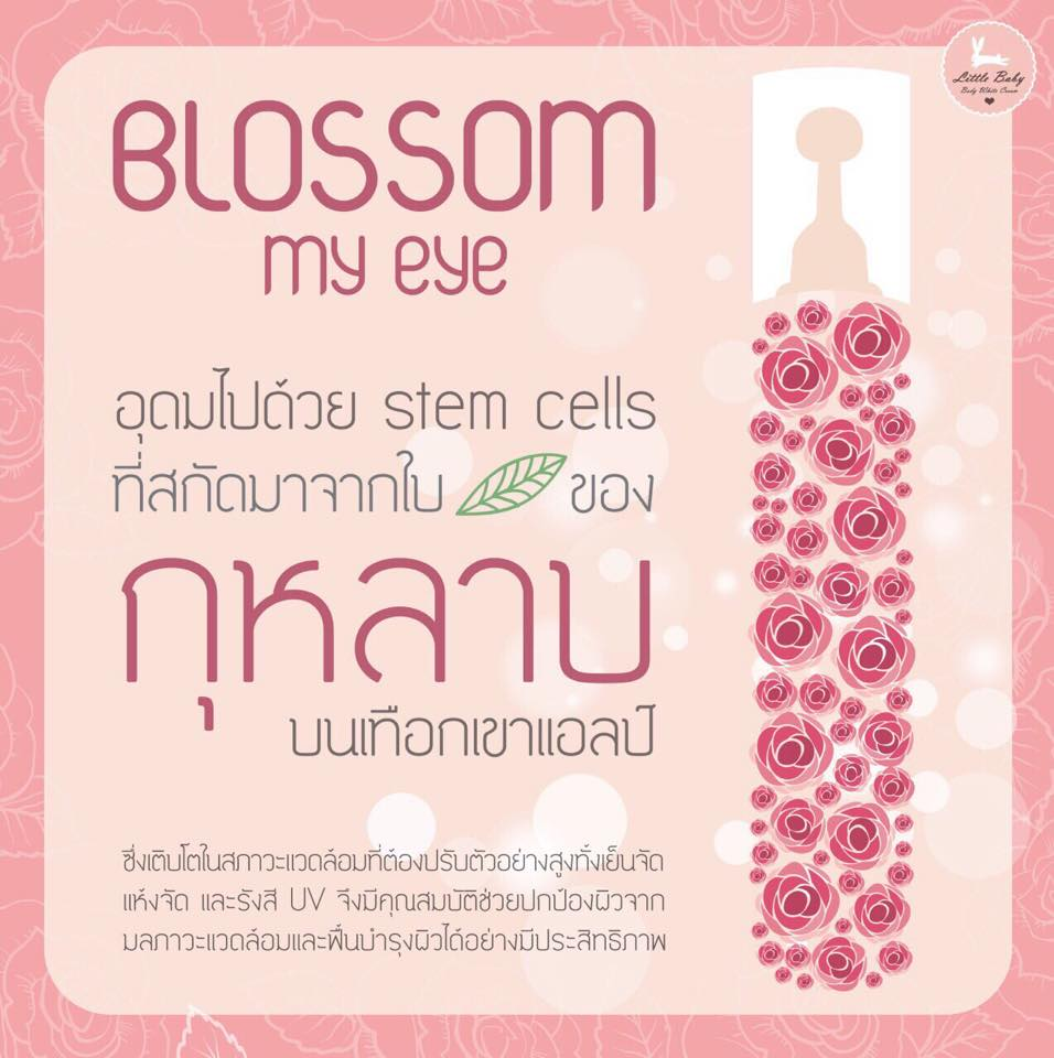 Blossom My Eye,  Little Baby, Little Baby Blossom My Eye,  ขอบตาดำ, ทาตา, แก้ปัญหาขอบตาดำ, ขอบตาหมีแพนด้า, ลิตเติ้ลเบบี้, ลดรอยหมองคล้ำใต้ตา